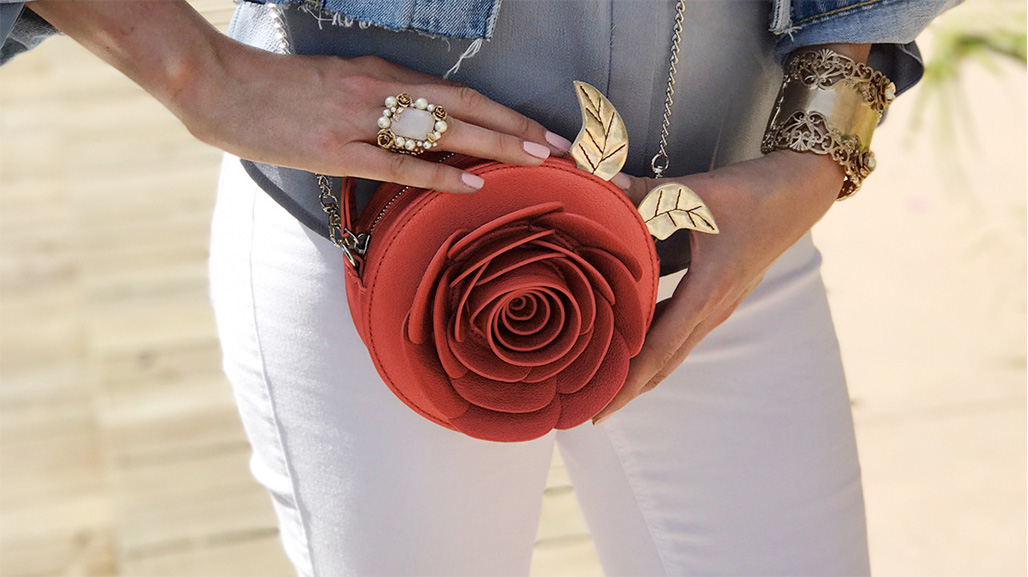 Beauty and the Beast rose bag