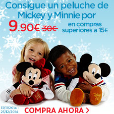 Consigue un peluche de Mickey y Minnie