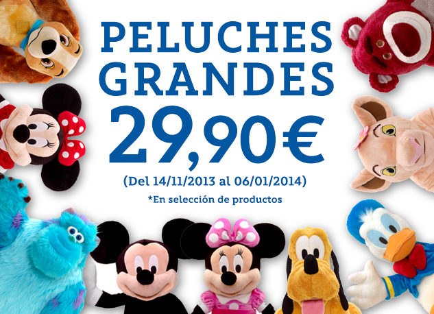 Peluches grandes 29,90€
