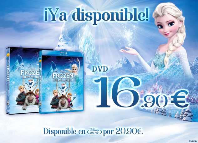 Ya disponible el DVD y Blu-Ray ™ de Frozen en Disney Store DVD 16.90€ Blu-ray 20.90€